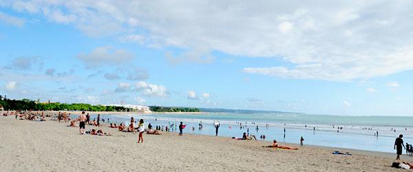 Strand bei Kuta auf der Insel Bali