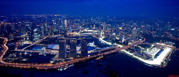 Formel 1 rennstrecke in Singapur