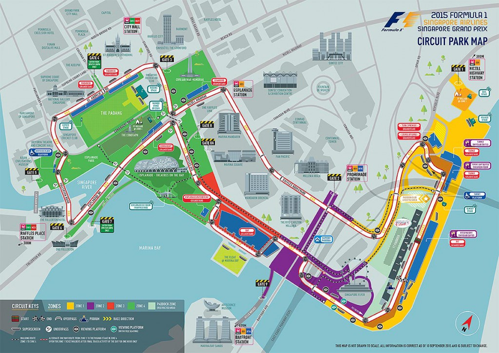 Streckenverlauf des Singapur Grand Prix